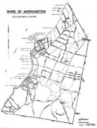 map of old Mornington Shire